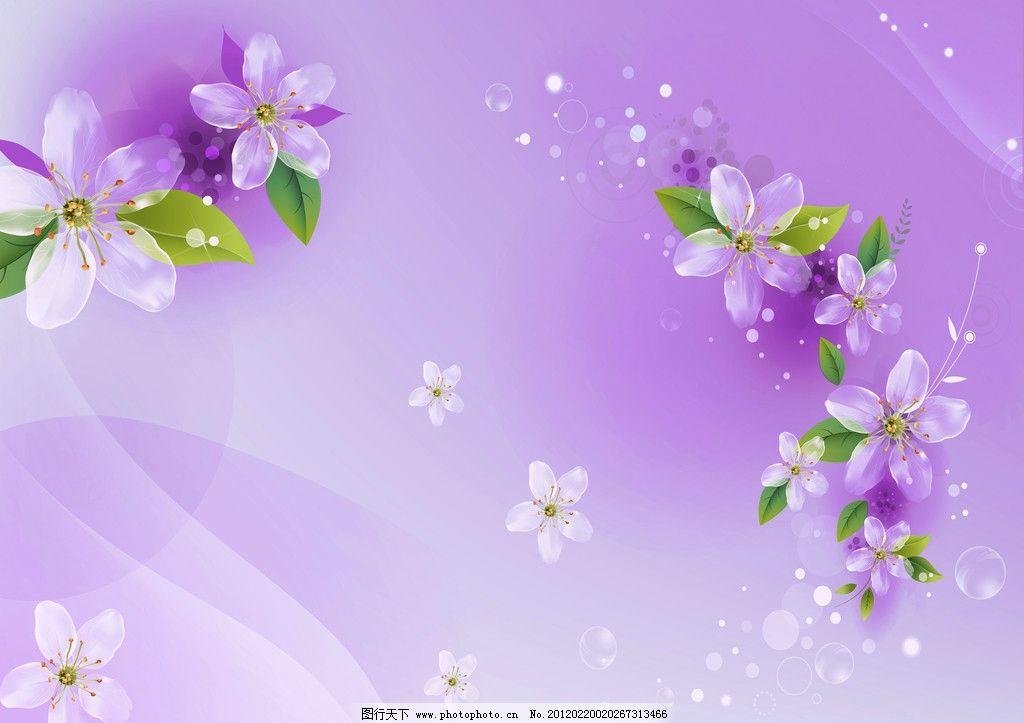 粉色梦幻 梨花 透明花 桃花 景 绿叶 线条 背景底纹 底纹边框 设计
