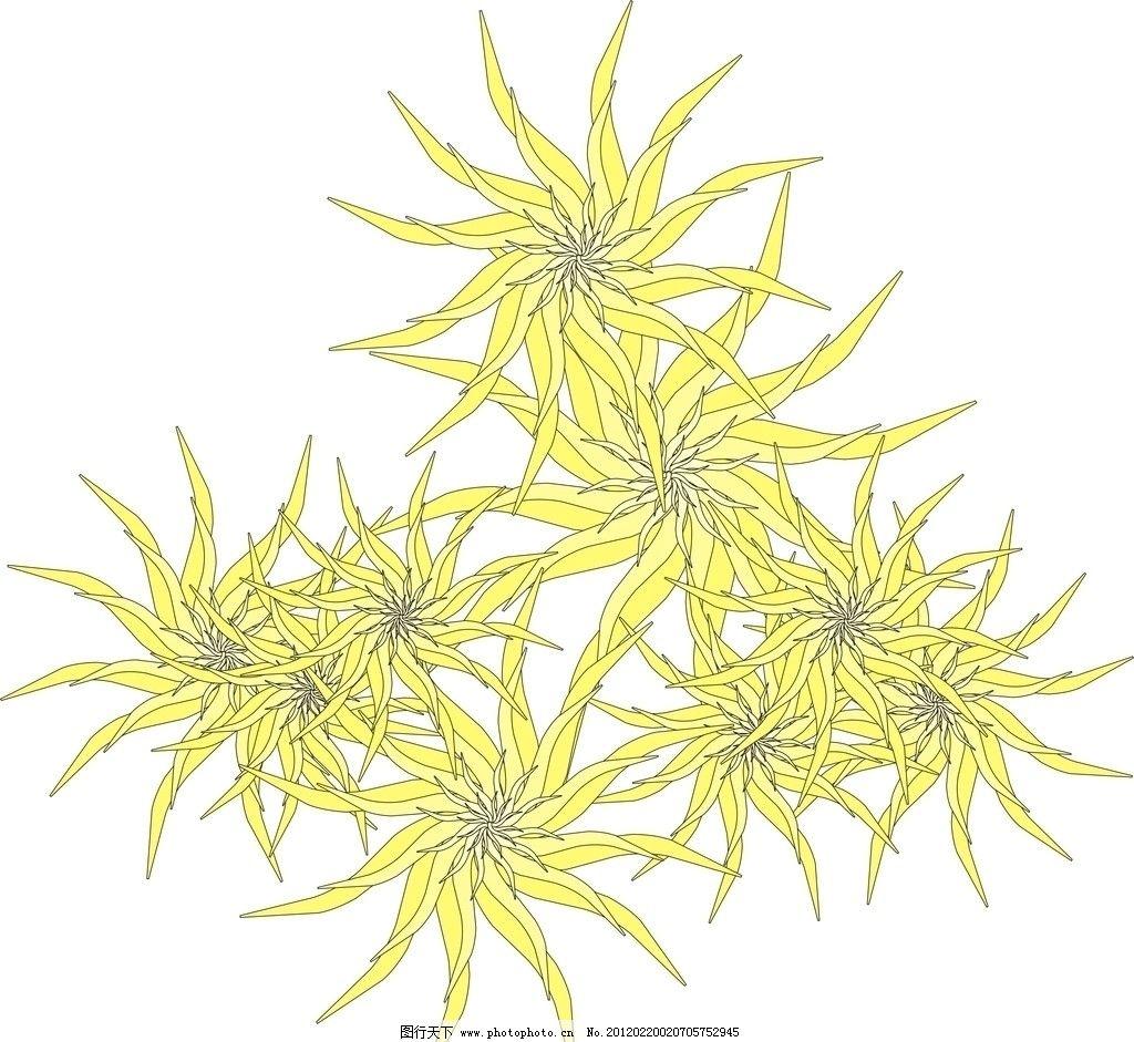 花瓣 花朵 黄色 移门图案 底纹边框 设计 300dpi jpg