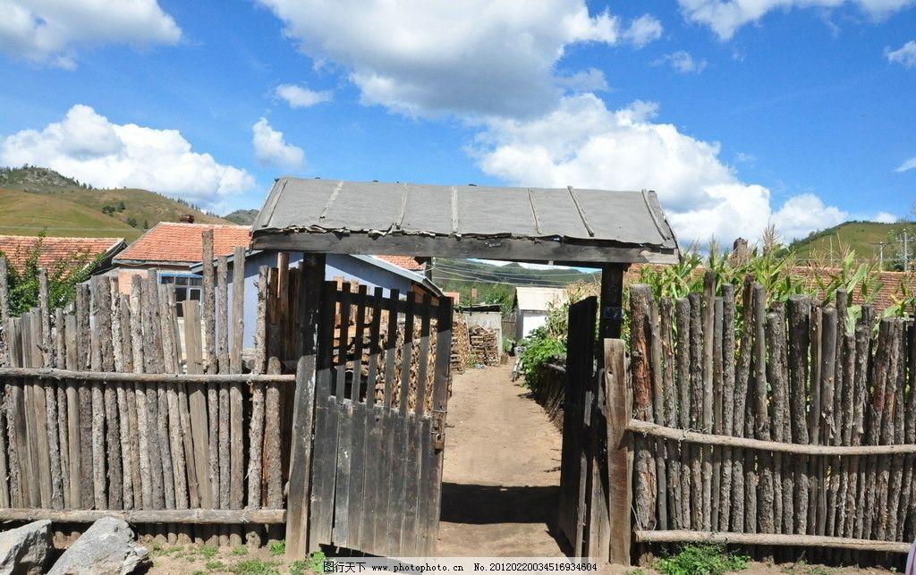农村木头房子图片