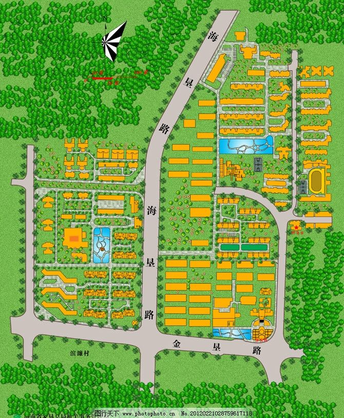 小区平面图 园林设计