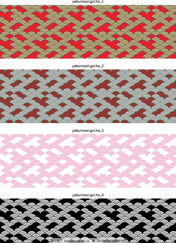 典雅日式和风花纹 典雅 日式 波浪形 云状 和风 底纹背景 底纹边框 矢