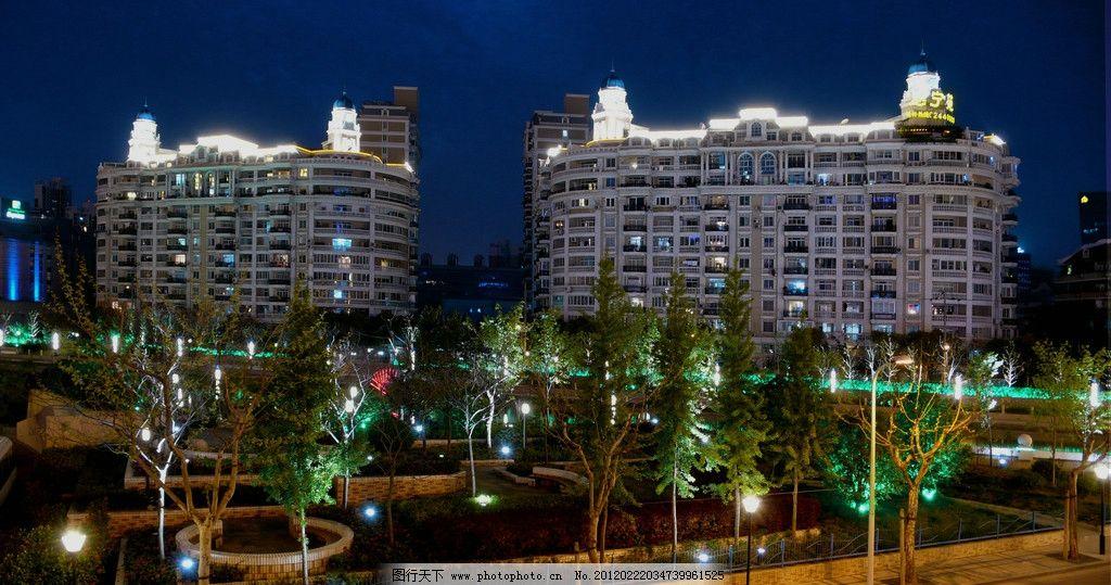 广场夜景 建筑夜景 欧式建筑