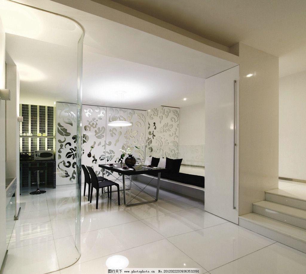 餐厅空间 餐桌椅 抛光砖 地砖和墙砖 抛釉砖 客厅餐具效果图 瓷砖铺贴