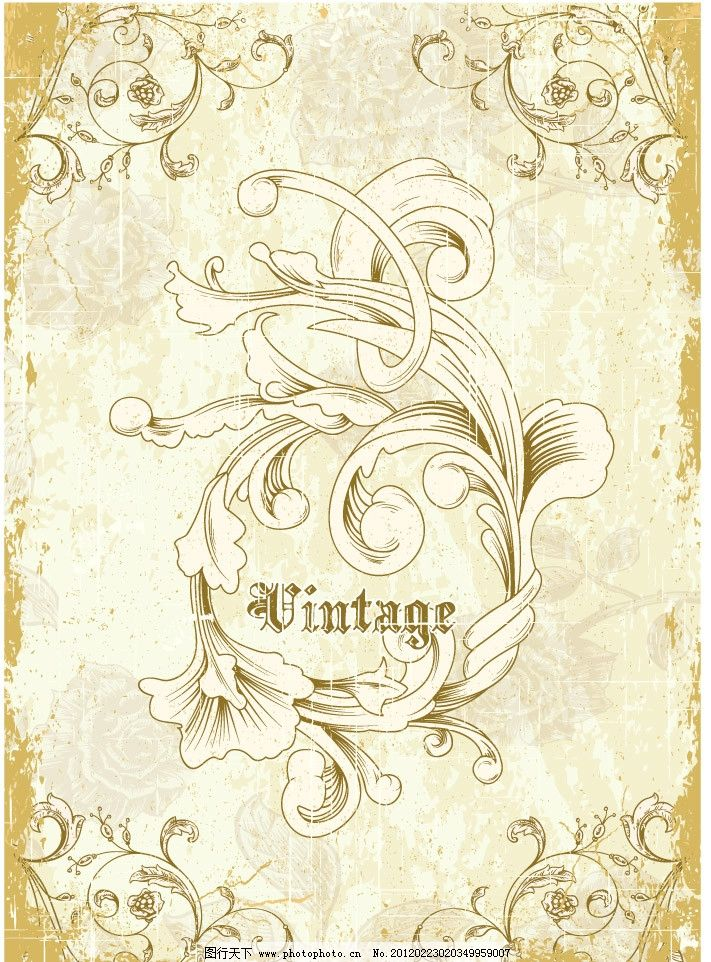 古典花纹 欧式花纹底纹图片