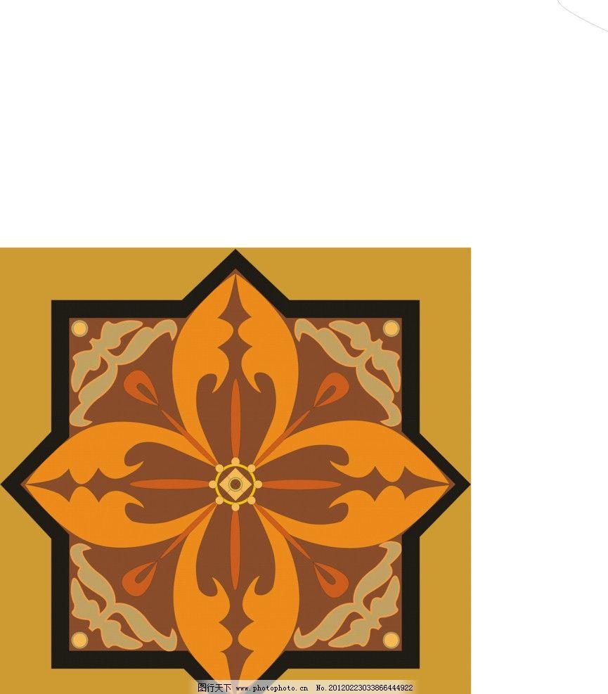 花纹适合纹样 花朵 叶子 适合纹样 矢量素材 其他矢量 矢量 cdr