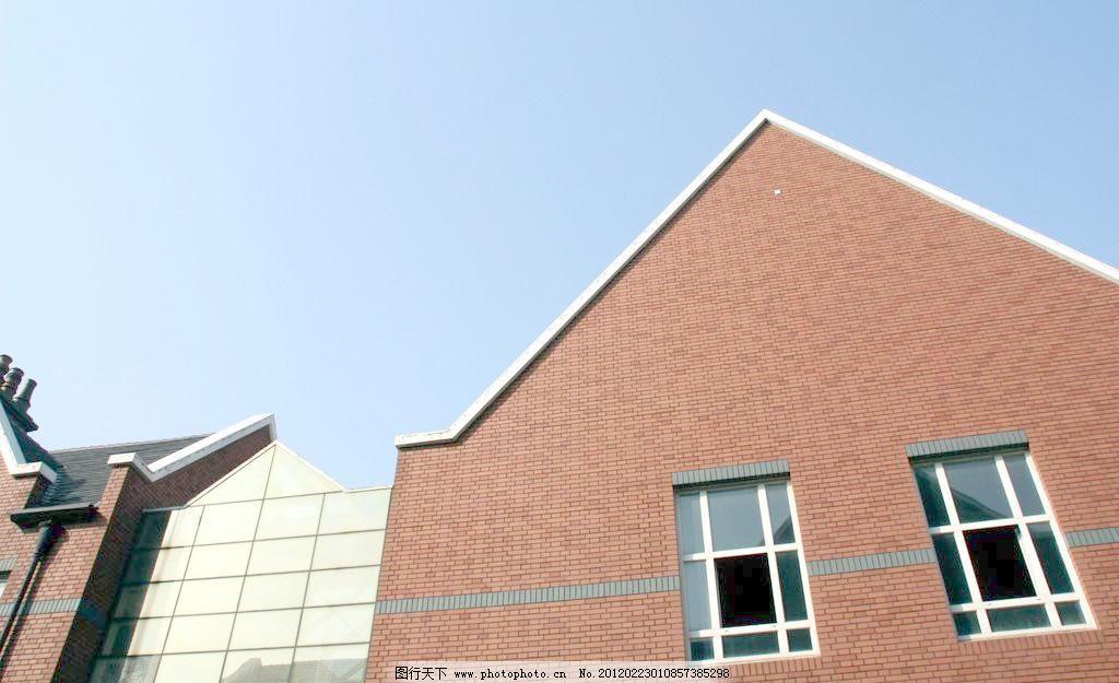 欧式建筑 窗户 房子 国内旅游 景观 蓝天 旅游摄影 欧式建筑图片素材