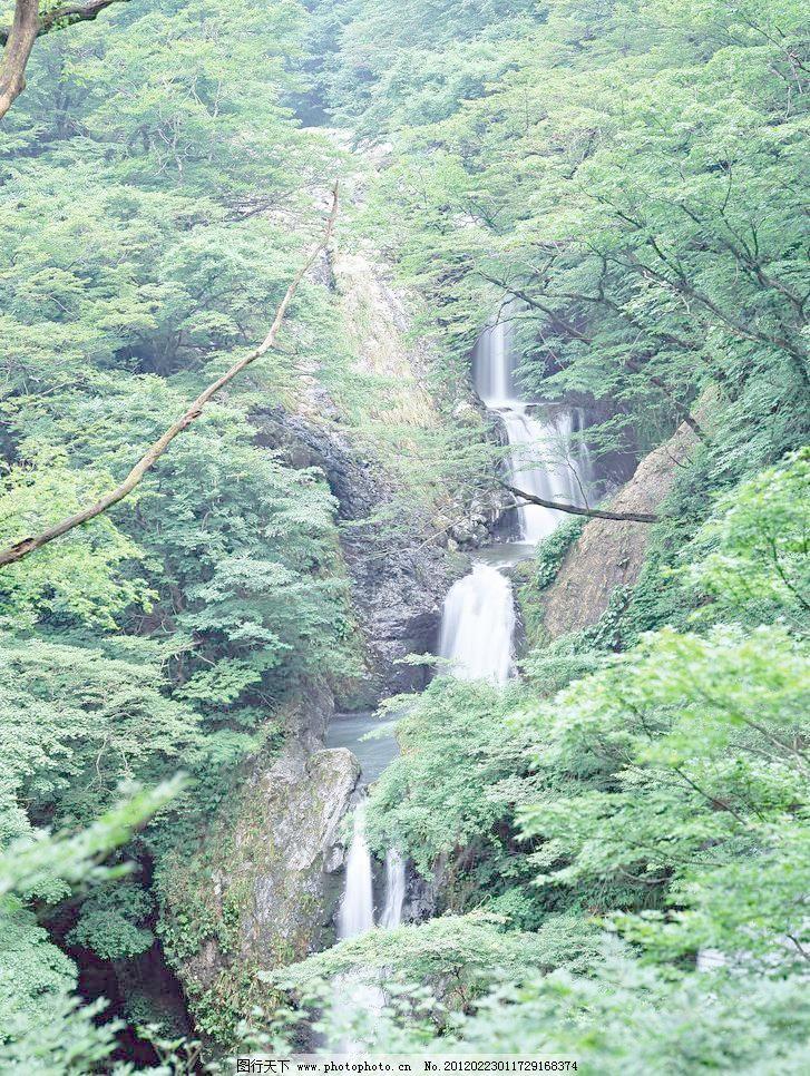 流水生财 绿树 山峰 山间小溪图片素材下载 山间小溪 高山流水 绿树
