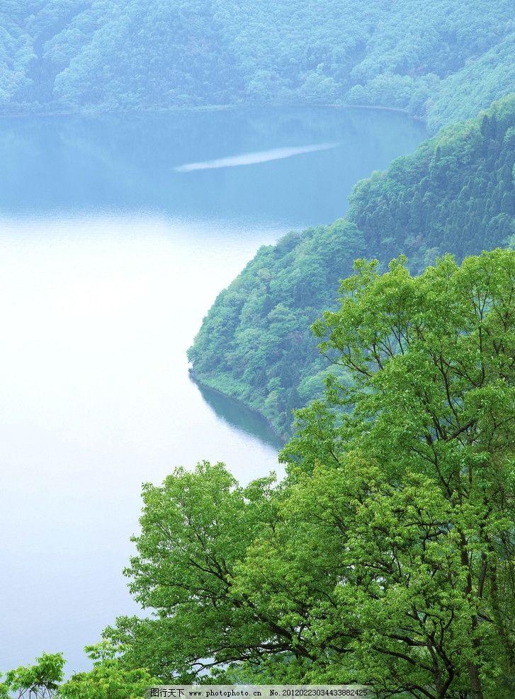 高山树林河水 高山流水 绿树 急流 风景画 山水风景画 山峰 风景 河流