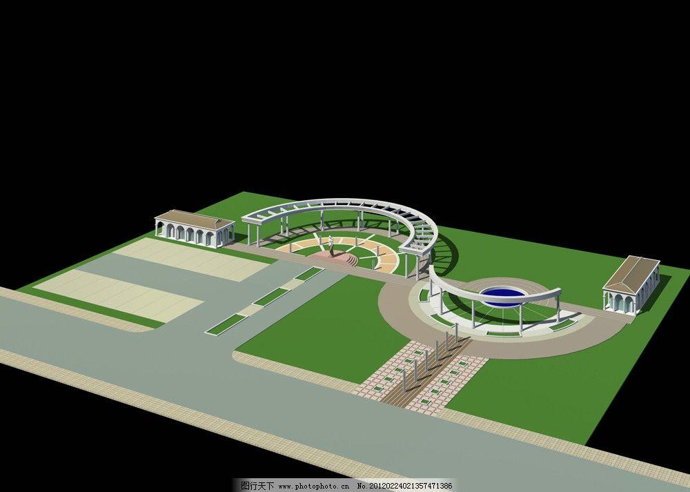 停车场效果图图片_室外模型_3d设计_图行天下图库