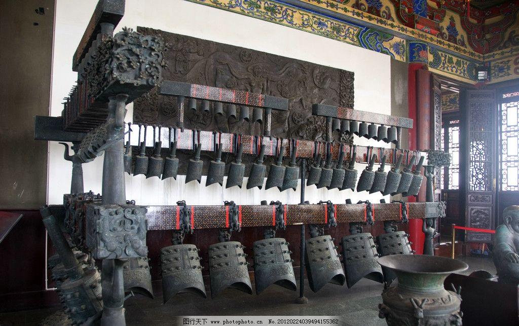 摄影图库 建筑园林 建筑摄影  战国编钟 滕王阁 编钟 古代乐器 中国