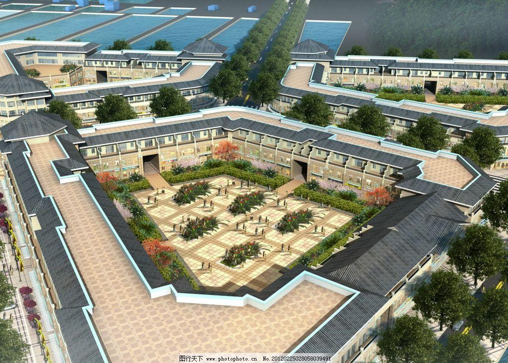 物流园内庭图片_建筑设计_环境设计_图行天下图库