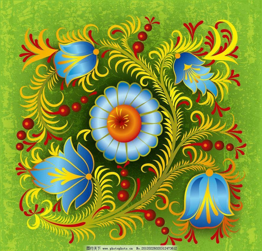 古典花纹花朵 古典 欧式 时尚 潮流 梦幻 花纹 花朵 花卉 墨迹 团花