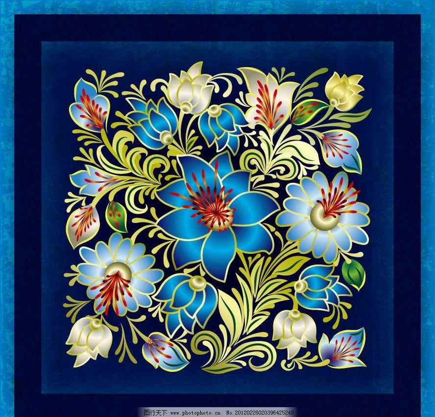 花纹花朵边框 古典 欧式 时尚 潮流 梦幻 花纹 花朵 花卉 墨迹 团花