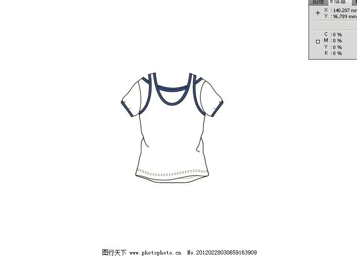女童短袖版型 设计 版型 女童 上衣 短袖 服装设计 广告设计 矢量 ai