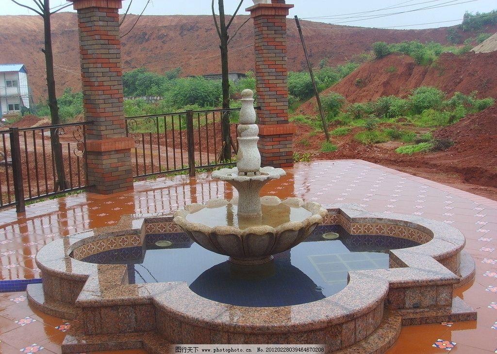 橘郡 院子 别墅 酒店 水池 大理石 石材 环境设计 景观设计 会所 饭店
