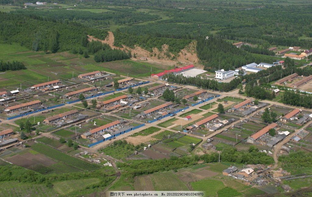 绿洲鸟瞰图 居民房 景观 绿地 俯视 高空 自然风景 自然景观