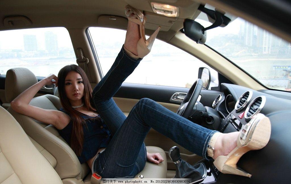 长城汽车和美女 汽车 美女 驾驶室 重庆美女 女性女人 人物图库 摄影