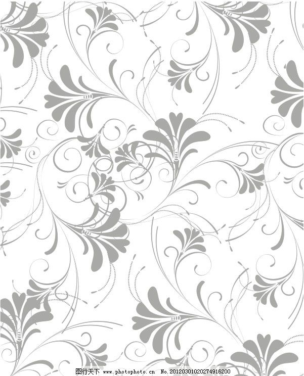 树叶图案 印花图案 大布图案 面料图案 满印图案 底纹背景 矢量