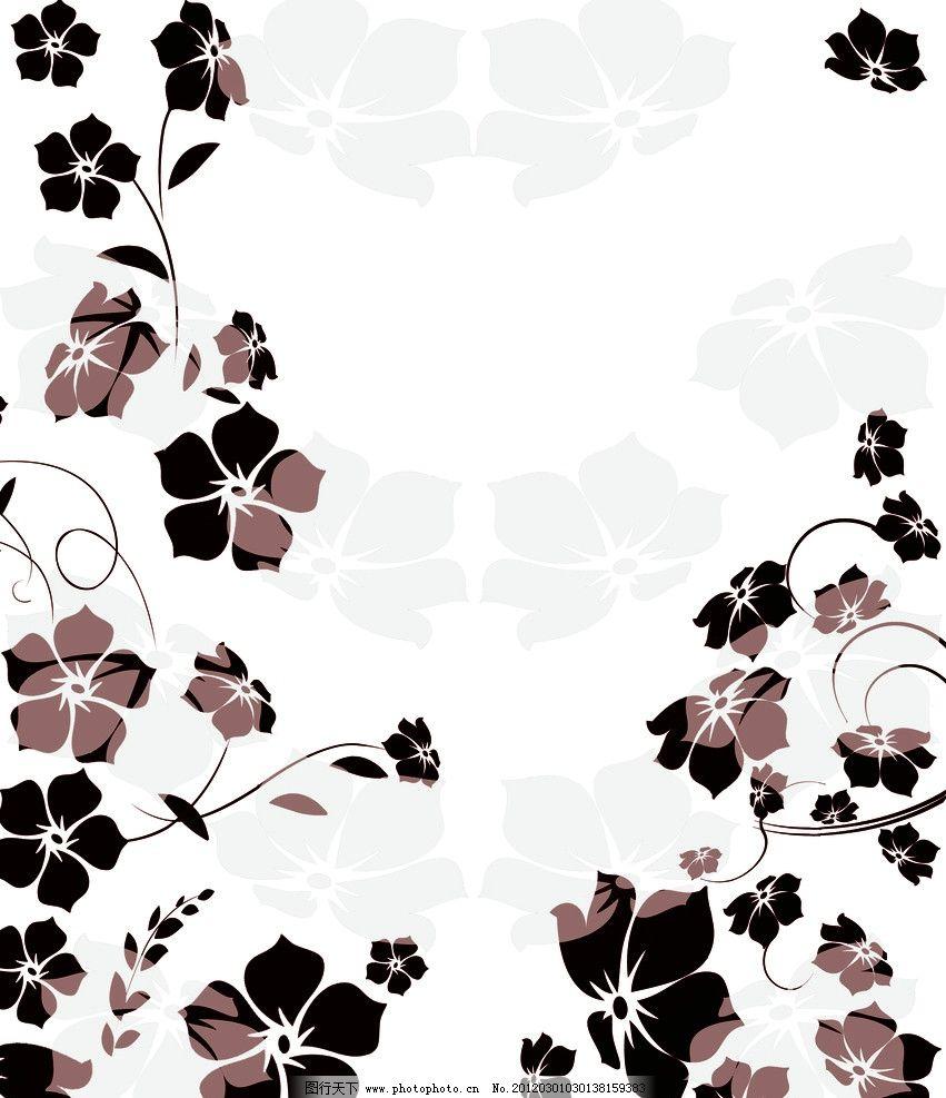 花蔓 花纹 花朵 花藤 广告设计模板 源文件