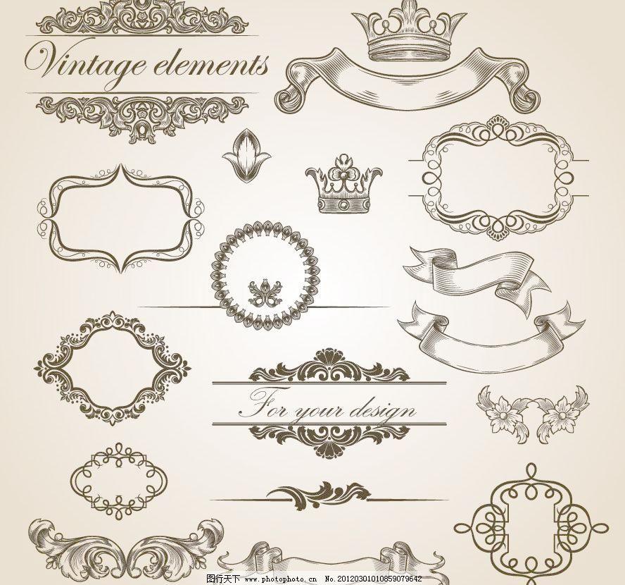 古典 欧式 时尚 潮流 梦幻 边框 花纹 花边 角花 花朵 花卉 线条 装饰图片