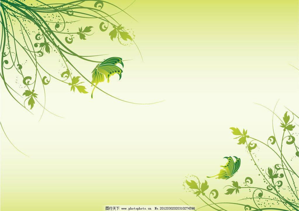 矢量花纹 韩国花纹 线条 绿叶 植物 设计素材 花纹花边 底纹边框 矢量