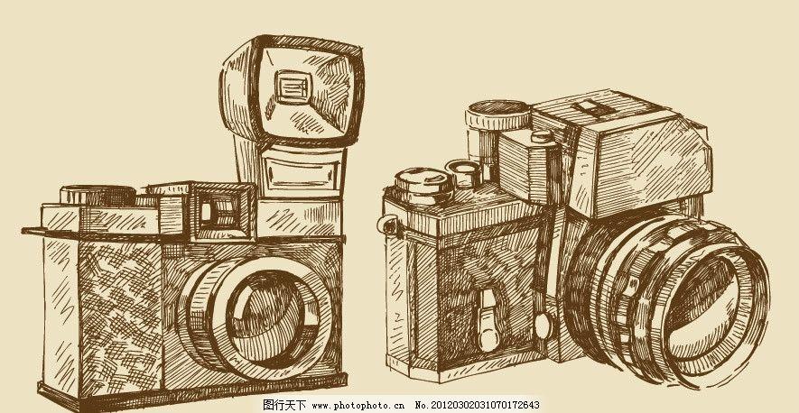 手绘数码相机图片