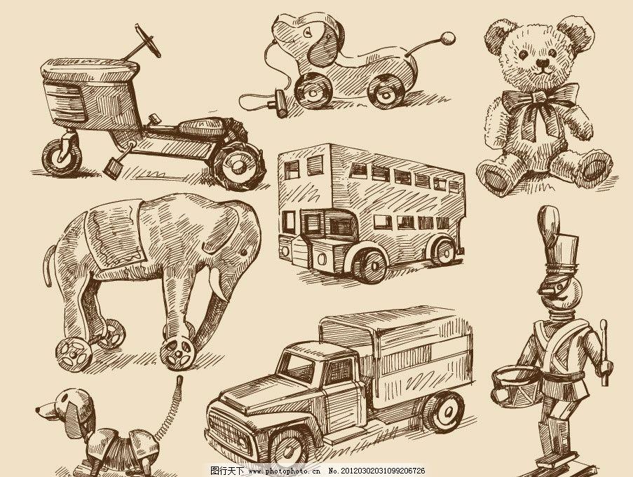 动物手绘钢笔画