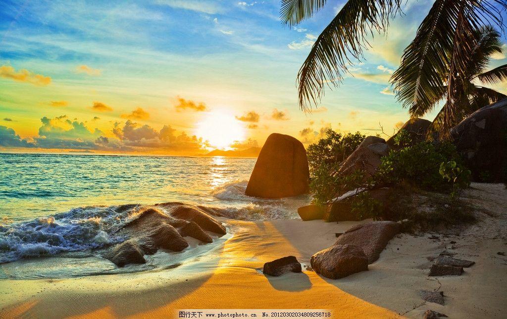 海滩 树木 沙滩 海水 碧海蓝天 沙子 旅游 度假 巴厘岛 椰树 自然风景