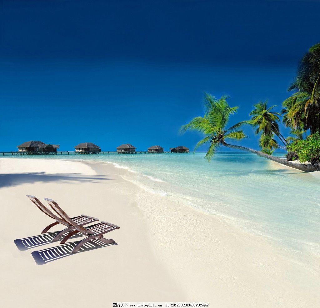 热带海滩 海边风景图片
