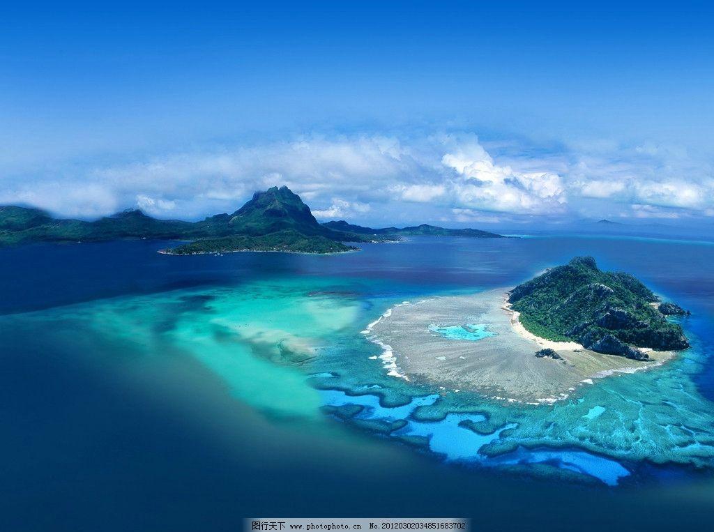 深蓝 蓝天 白云 海岛 海岸 度假 海边 大海 蔚蓝 风景 美景 海滩 沙滩