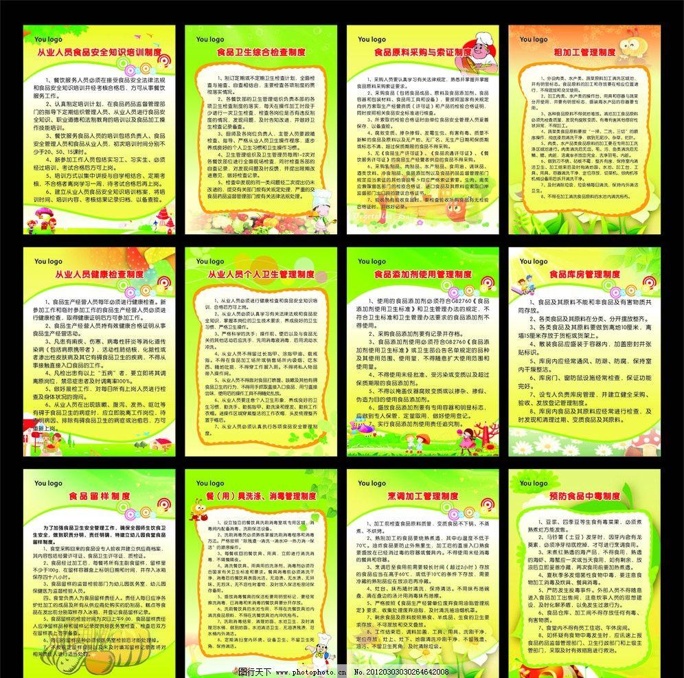 幼儿园食堂展板系列 展板模板 广告设计 矢量 cdr