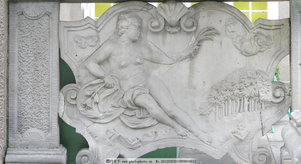 欧式人物浮雕图片