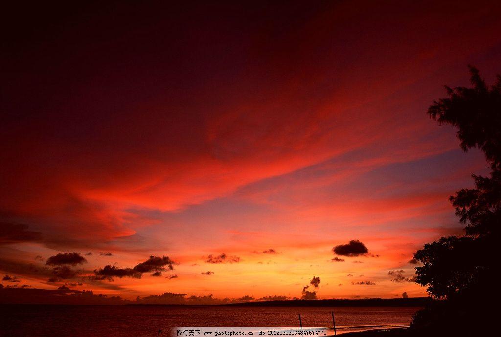 红色风景图片