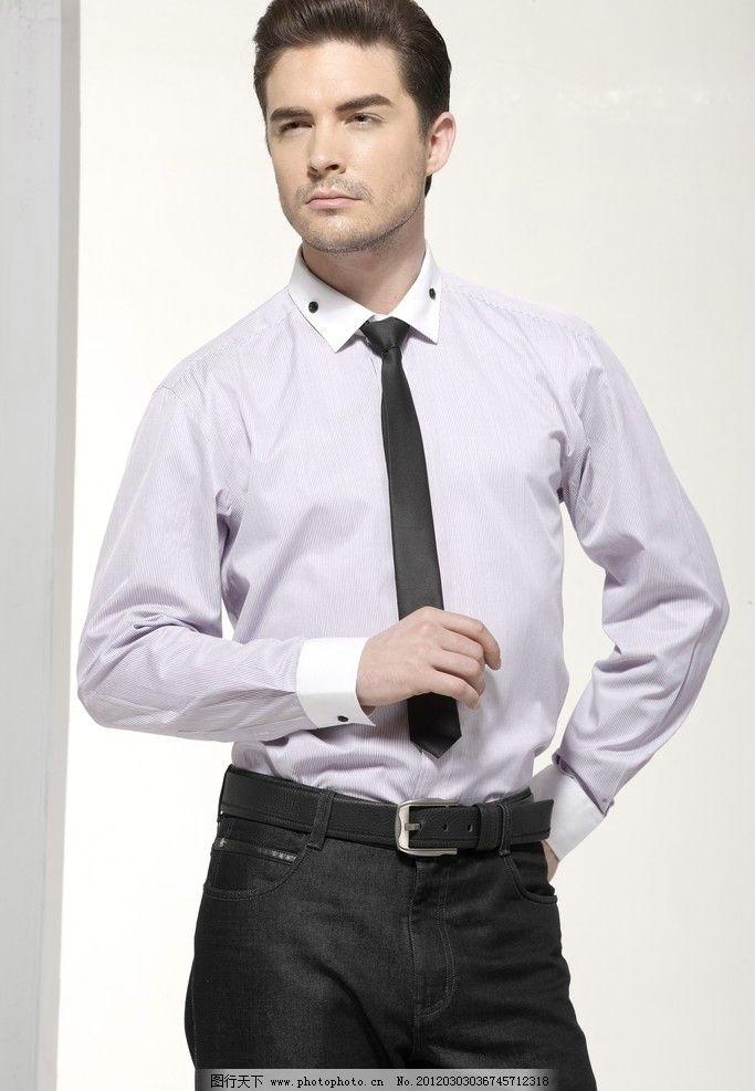服装模特 衬衫 衬衫服饰广告 男装模特 衣服 领带 外国 商务
