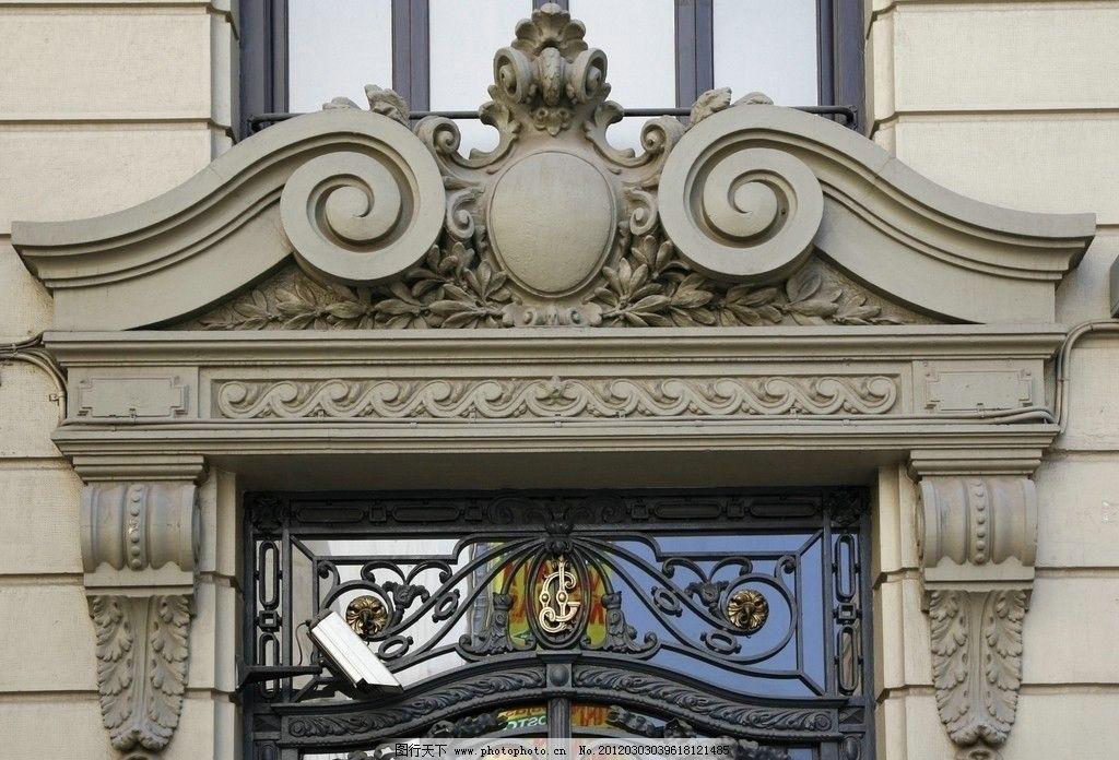 欧式石门门头雕花图片