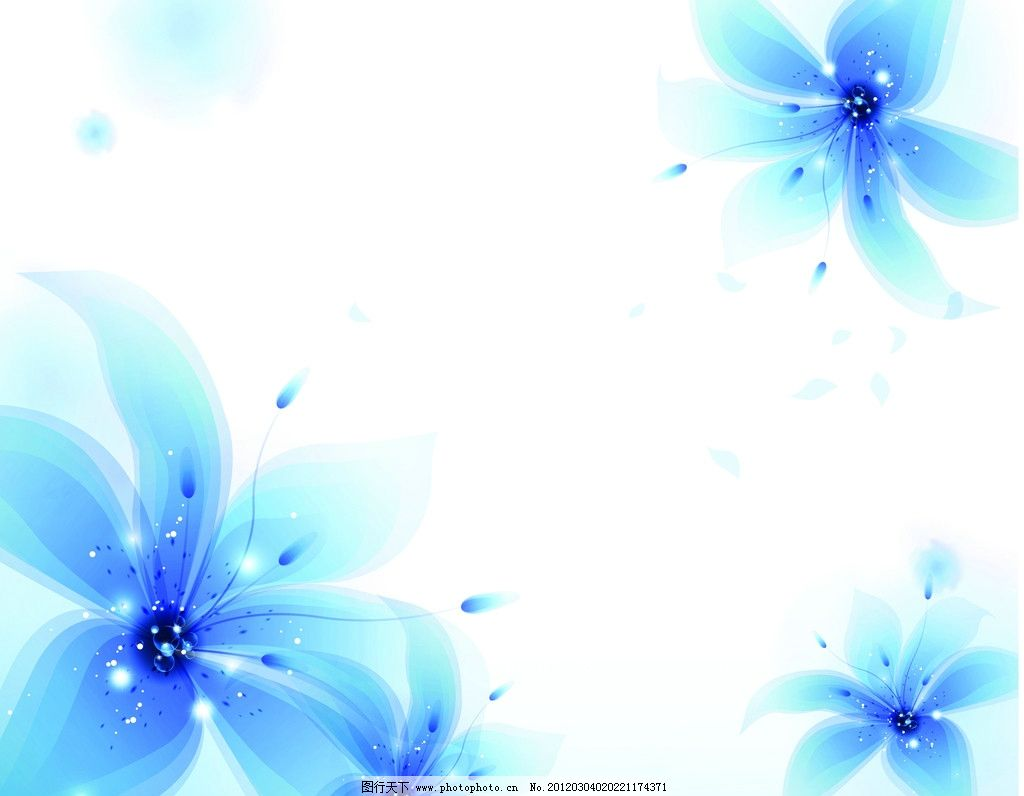 背景 花 花瓣 光点 星星 蓝花 背景底纹 底纹边框图片