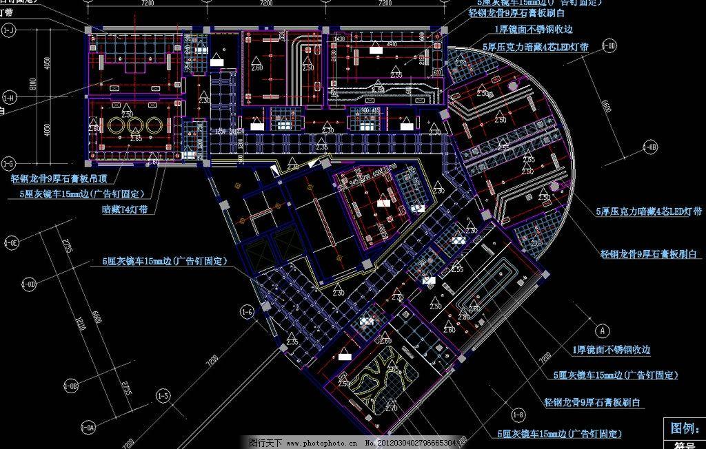大型自助式ktv 六层天棚布置图图片