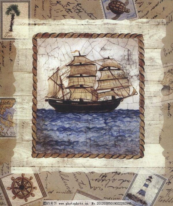 帆船像灯塔游去简笔画,手绘