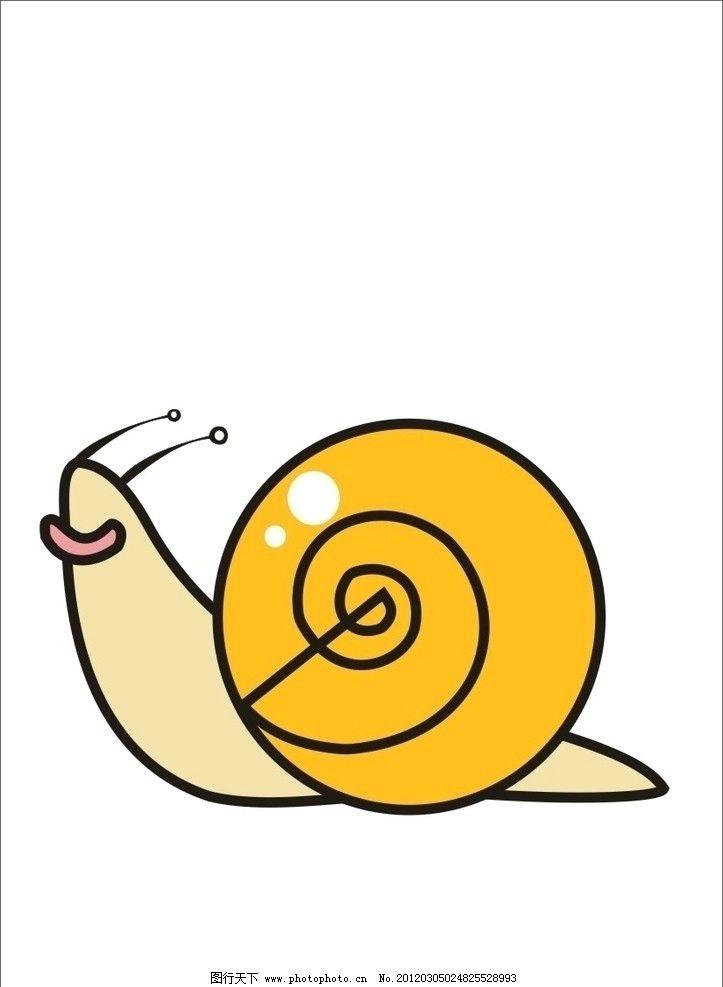 蜗牛 昆虫 生物世界 矢量 cdr