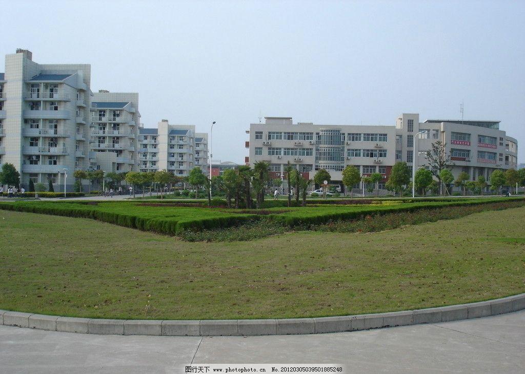 大学校园景观 大学 校园 景观 绿地 绿化 建筑 草坪 灌木 铺地 教学楼