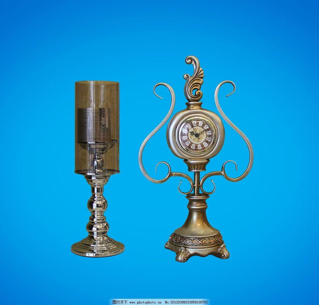 欧式钟表 装饰性 尊贵 贵族 花纹 花式钟表 烛台 古典 源文件
