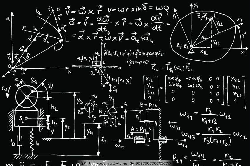 数学公式 手绘数学公式 手绘数学公式矢量图 美术绘画 文化艺术