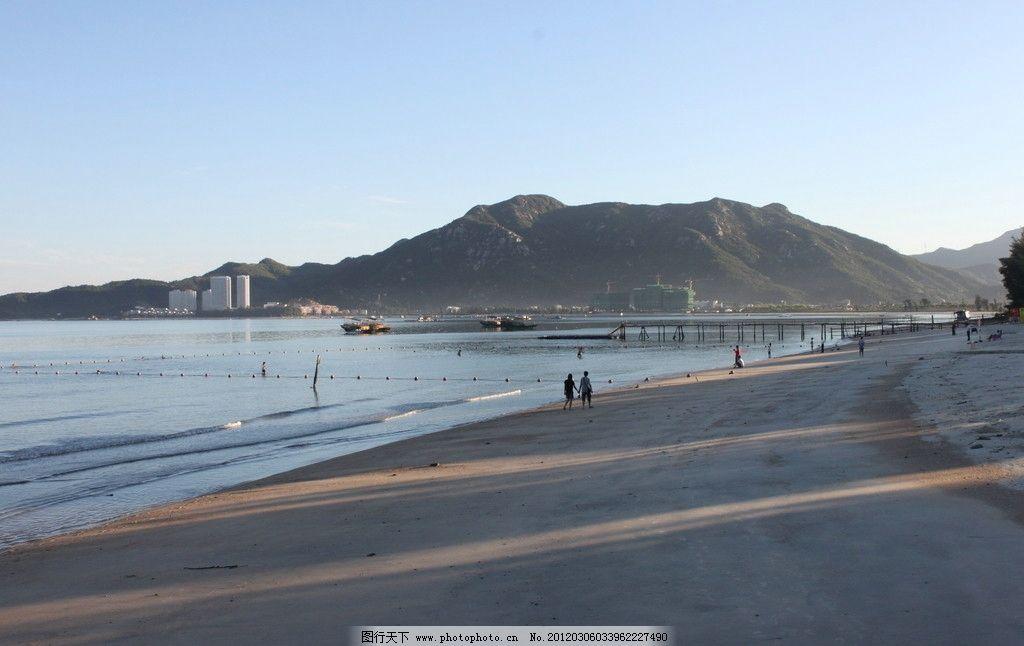 海边日出 惠州市巽竂湾 海边 沙滩      眺望台 早晨 等日出 摄影