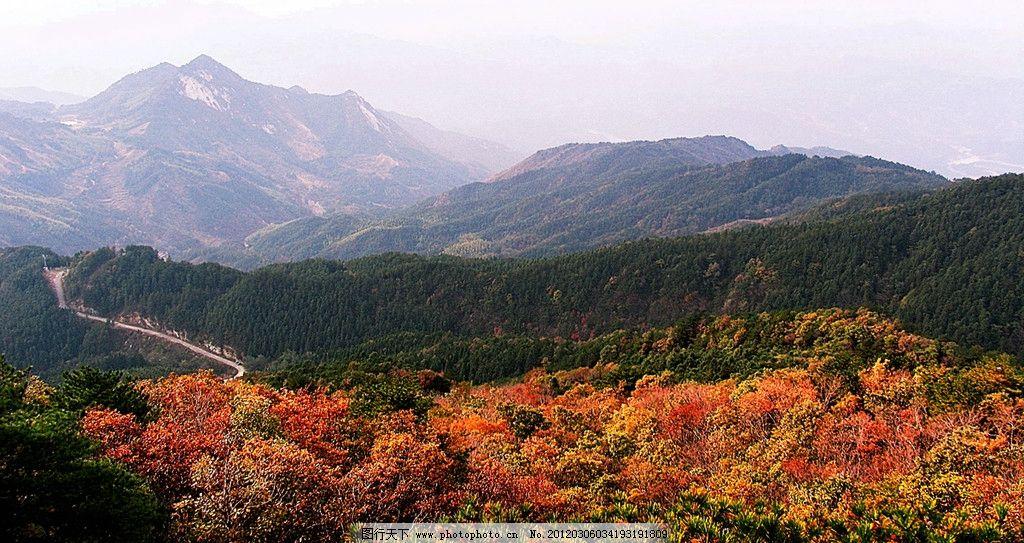 秋到大别山 大别山 秋天 山峦 树林 自然风景 旅游摄影 摄影 72dpi