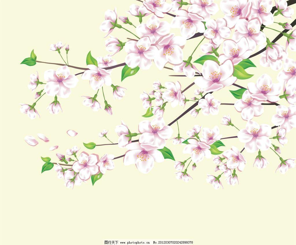 墙纸 鲜花 背景 桃花 背景底纹 底纹边框 设计 100dpi jpg