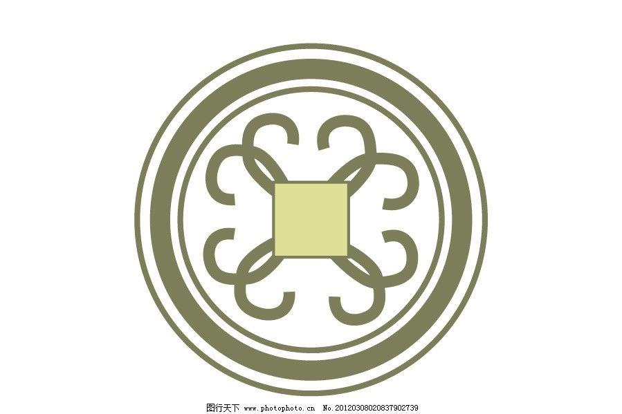 圆形图纹杯垫图片