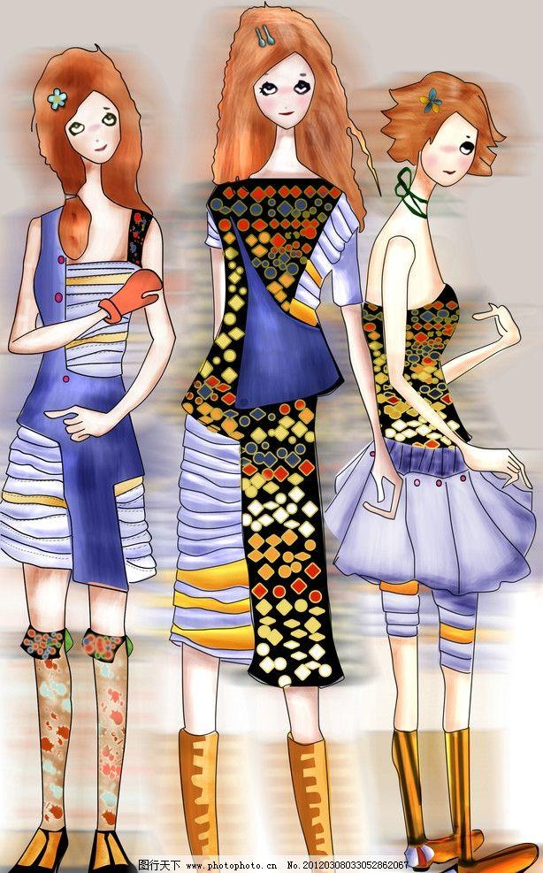 女款服裝設計圖片