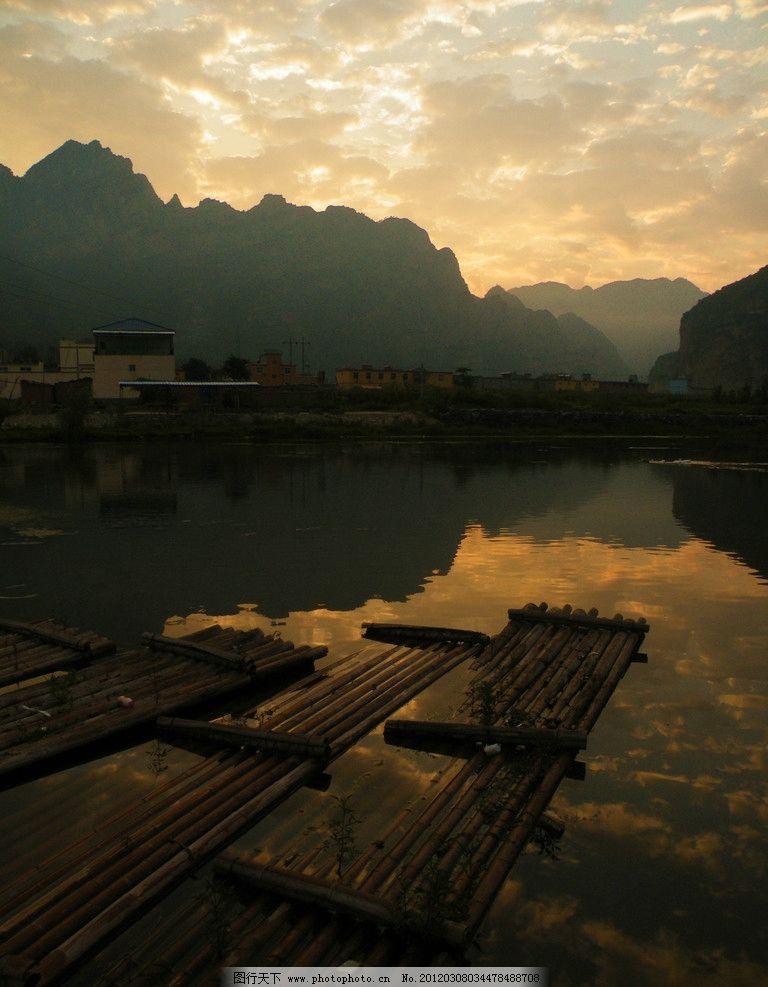 野三坡 河北保定涞水县 早晨 朝云 河流 山水风景 自然景观 摄影 72