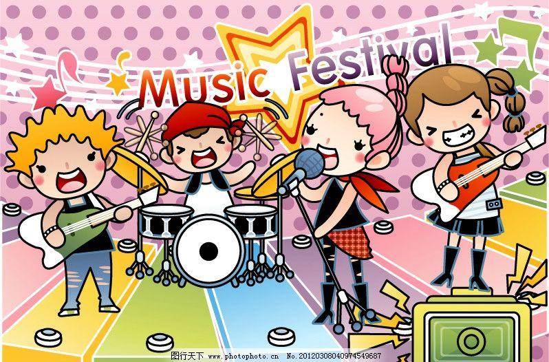 可爱儿童素材 音乐会图片