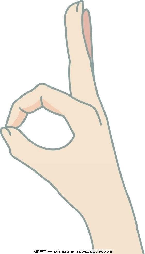 ok的手势图片